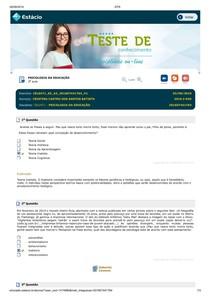 PISCICOLOGIA DA EDUCAÇÃO SIMULADO 3
