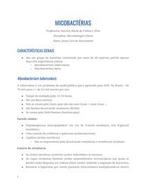 Resumo - Micobactérias