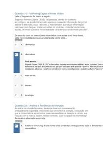 APOL 3 TENDENCIA DE MERCAO E MIDIAS  DIGITAIS 100