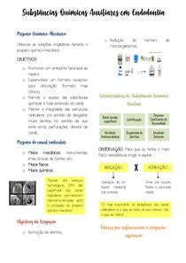 Substancias quimicas auxiliares endodontia