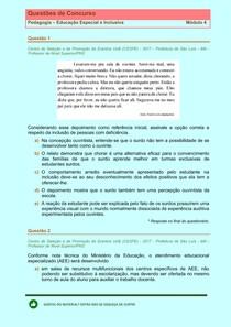 Educaçao Inclusiva - Questões de Concursos Publicos - Modulo 4