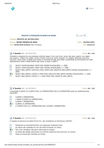 Proj E Implementação De Banco De Dados