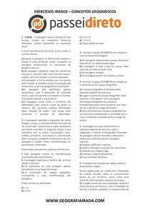 EXERCÍCIOS CONCEITOS GEOGRÁFICOS