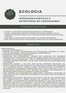 Interações bióticas e estruturas de comunidades