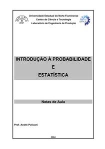 Apostila Introdução à Probabilidade e Estatística