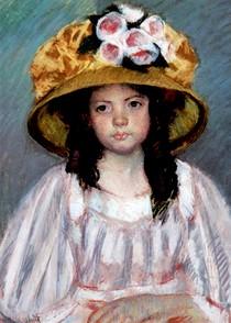 Mary Cassat - Fillette-Au-Grand-Chapeau