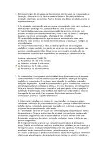 Avaliação II - Educação e Tecnologias
