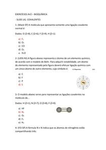 EXERCÍCIOS AV2 Fund. de Química e Bioquímica