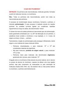 Resumo de Polimeros