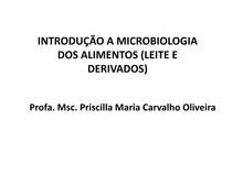 Aula 3 - Microbiologia dos Alimentos (Leite e Derivados) - Introdução
