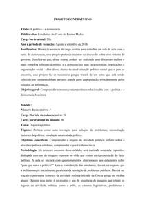 Atividade - Projeto Contraturno - Democracia