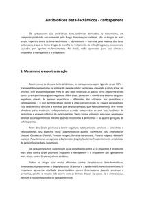 Capítulo 4   Antibióticos Beta lactâmicos Carbapenens