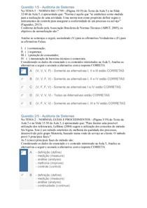 APOL 5   Auditoria de Sistemas - Nota 100