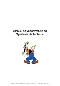 Manual de Sobrevivência   Residente de Pediatria