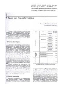 A Terra em transformação. Cap.1. Geologia de Engenharia