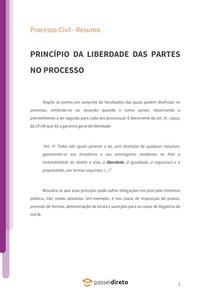 Princípio da liberdade das partes no processo - Resumo