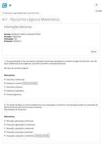 Av1 - Raciocínio Lógico e Matemático