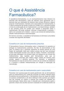 Assistência Farmacêutica na Farmácia Comunitária