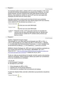 Atividade 2 de Introdução ao Planejamento Tributário