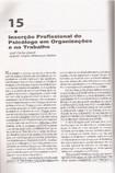 cap 15 - A inserção profissional do psicólogo nas organizações e trabalho