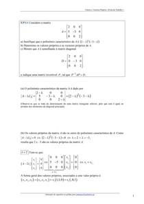 Valores e Vectores P [FT1] Res