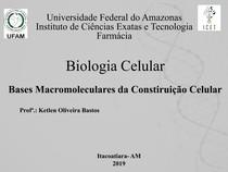 2 Aula   Bases Macromoleculares da Constituição Celular
