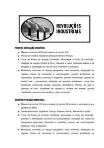 Resumo: Revoluções Industriais