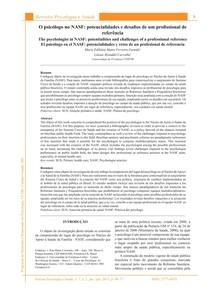 Psicologia da Saúde   O psi no NASF