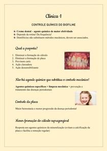 Clínica 1- Controle químico do biofilme
