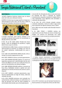 Histórico da Terapia Nutricional Enteral e Parentral