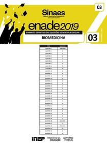 Gabarito - ENADE 2019 (Biomedicina)