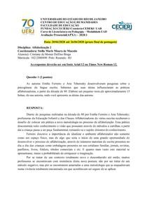 AP1 Alfabetização2 2020 1 Cristiane de Morais Delfino Braga