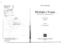 karl mannheim ideologia y utopia