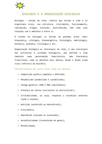 organização biologica