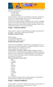 Tipos de Discursos Textuais