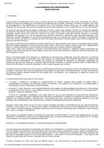 [RESUMO] A Autonomia dos Professores - José Contreras