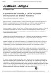 A audiência de custódia, o CNJ e os pactos internacionais de direitos humanos _ Artigos JusBrasil