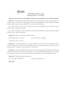 Matemática 1 (IC 251) - Optativa 2017-2 Prof Daniel Reis