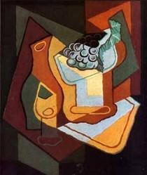 Bottle Wine Glass and Fruit Bowl-Juan Gris