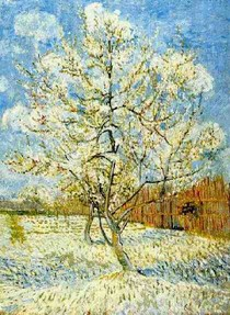 Vincent Willem van Gogh-Peach Tree-em-Blossom