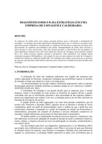 Estudo de Caso - 5Ps e estrategia