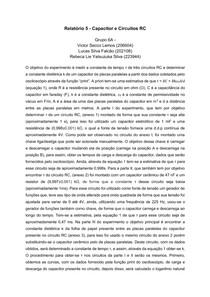 Relatório 5 - Capacitor e Circuitos RC