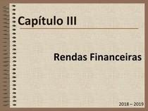 Matemática Financeira Capítulo III   Rendas Financeiras UALG ESGHT