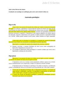 Anatomia patológica - resumo