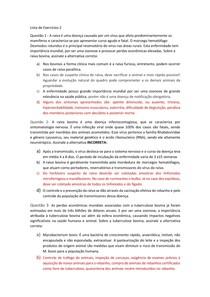 Lista de Exercício 2 - Doenças Infecciosas