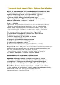 PROAICA - Programa de Atenção Integral à Criança e Adulto com Asma de Fortaleza - MS
