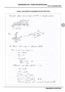 Equações da Estática - Apostila