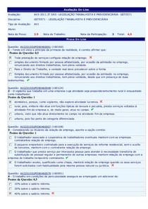 AV1 Legislação Trabalhista 2