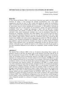 Método manual para cálculo da taxa interna de retorno
