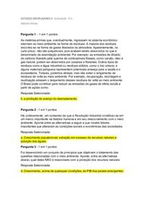 Avaliação TI II   ESTUDOS DISCIPLINARES 2